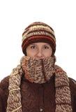 Retrato do inverno de uma mulher foto de stock royalty free