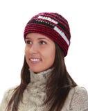 Retrato do inverno de uma mulher imagem de stock royalty free