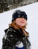 Retrato do inverno do menino Imagem de Stock Royalty Free
