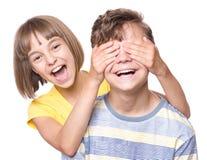 Retrato do irmão e da irmã Imagens de Stock Royalty Free