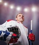 Retrato do jogador de hóquei Imagem de Stock Royalty Free