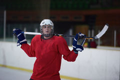 Retrato do jogador de hóquei em gelo Foto de Stock