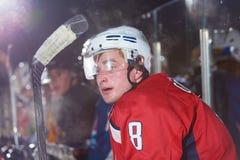 Retrato do jogador de hóquei em gelo Fotos de Stock Royalty Free