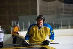 Retrato do jogador de hóquei em gelo Imagem de Stock Royalty Free
