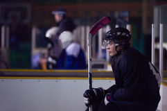 Retrato do jogador de hóquei em gelo Imagem de Stock