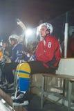 Retrato do jogador de hóquei em gelo Fotografia de Stock Royalty Free