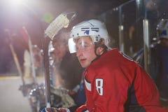 Retrato do jogador de hóquei em gelo Fotos de Stock