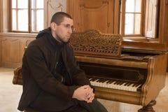 Retrato do jogador de piano Fotografia de Stock