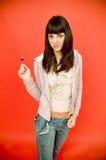 Retrato do Lollipop fotografia de stock