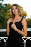 Retrato do louro novo encantador Fotos de Stock Royalty Free