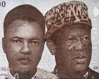 Retrato do MAI-Bornu e do Clement Isong de Aliyu no nair 1000 do Nigerian Fotografia de Stock