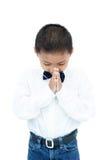 Retrato do menino asiático pequeno Imagens de Stock Royalty Free