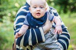 Retrato do menino cinco meses velho Foto de Stock Royalty Free