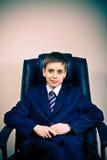Retrato do menino confiável novo do negócio foto de stock royalty free