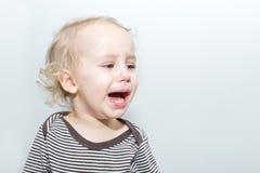 Retrato do menino de grito Imagem de Stock Royalty Free