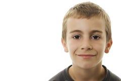 Retrato do menino de sorriso. foto de stock royalty free