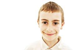 Retrato do menino de sorriso imagens de stock royalty free