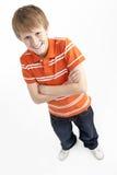 Retrato do menino de sorriso dos anos de idade 12 Fotos de Stock