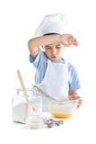 Retrato do menino do cozinheiro chefe Foto de Stock