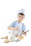 Retrato do menino do cozinheiro chefe Imagem de Stock Royalty Free