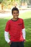 Retrato do menino dos anos de idade 11 ao ar livre Fotos de Stock