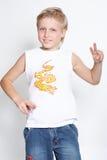 Retrato do menino eleven-year. Glória Imagens de Stock Royalty Free