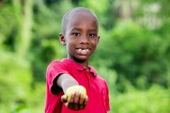 Retrato do menino engraçado bonito pequeno que olha o sorriso da câmera fotografia de stock