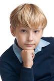 Retrato do menino inteligente. Imagens de Stock