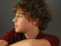 Retrato do menino, perfil Imagem de Stock Royalty Free