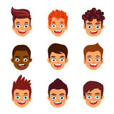 Retrato do meninos Avatars do ` s das crianças Foto de Stock
