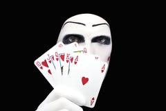 Retrato do mime com resplendor real Foto de Stock