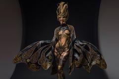 Retrato do modelo bonito com arte corporal da fantasia Imagens de Stock