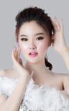 Retrato do modelo bonito da mulher Fotografia de Stock