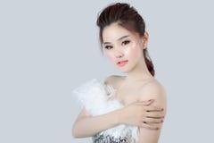 Retrato do modelo bonito da mulher Foto de Stock