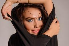 Retrato do modelo da beleza foto de stock royalty free