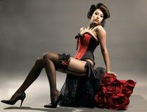 Retrato do modelo de forma sensual imagens de stock royalty free