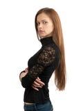 Retrato do modelo fêmea bonito imagens de stock