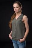 Retrato do modelo fêmea bonito imagem de stock royalty free