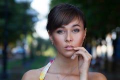 Retrato do modo bonito Foto de Stock Royalty Free