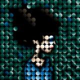 Retrato do mosaico Fotos de Stock Royalty Free