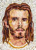 Retrato do mosaico de Jesus Christ foto de stock royalty free