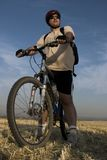 Retrato do motociclista foto de stock royalty free