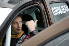 Retrato do motorista de Romain Grosjean Foto de Stock Royalty Free