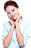 Retrato do mulheres triguenhas bonitas Fotografia de Stock