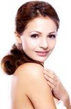 Retrato do mulheres triguenhas bonitas Foto de Stock