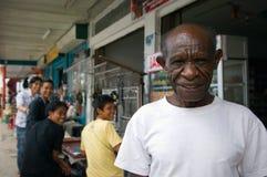 Retrato do nativo de Nova Guiné fotografia de stock royalty free