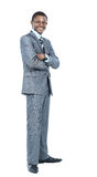 Retrato do negócio afro-americano de sorriso Imagens de Stock Royalty Free