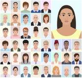 Retrato do negócio diferente dos povos, trabalho, ilustração do vetor Fotografia de Stock