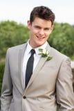 Retrato do noivo At Wedding Foto de Stock Royalty Free