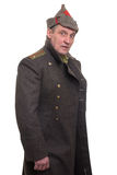 Retrato do oficial do exército do russo Imagem de Stock Royalty Free